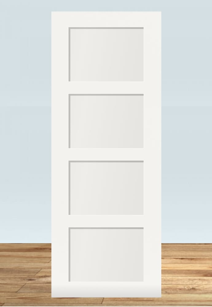 4 squares shaker style wardrobe doors