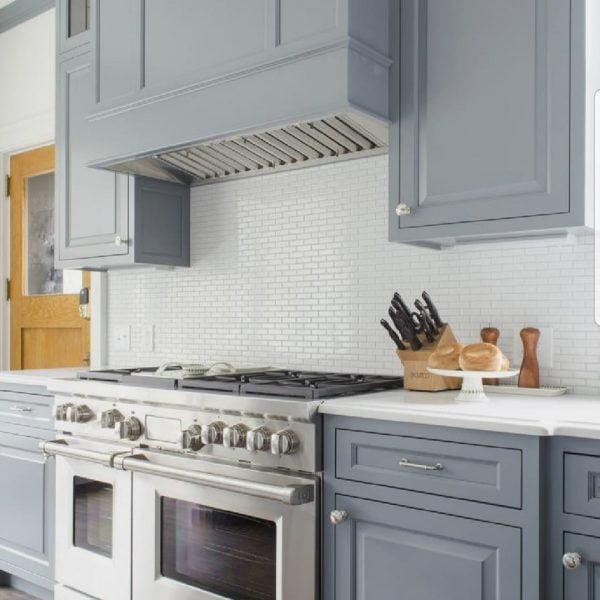 solid wood grey kitchen